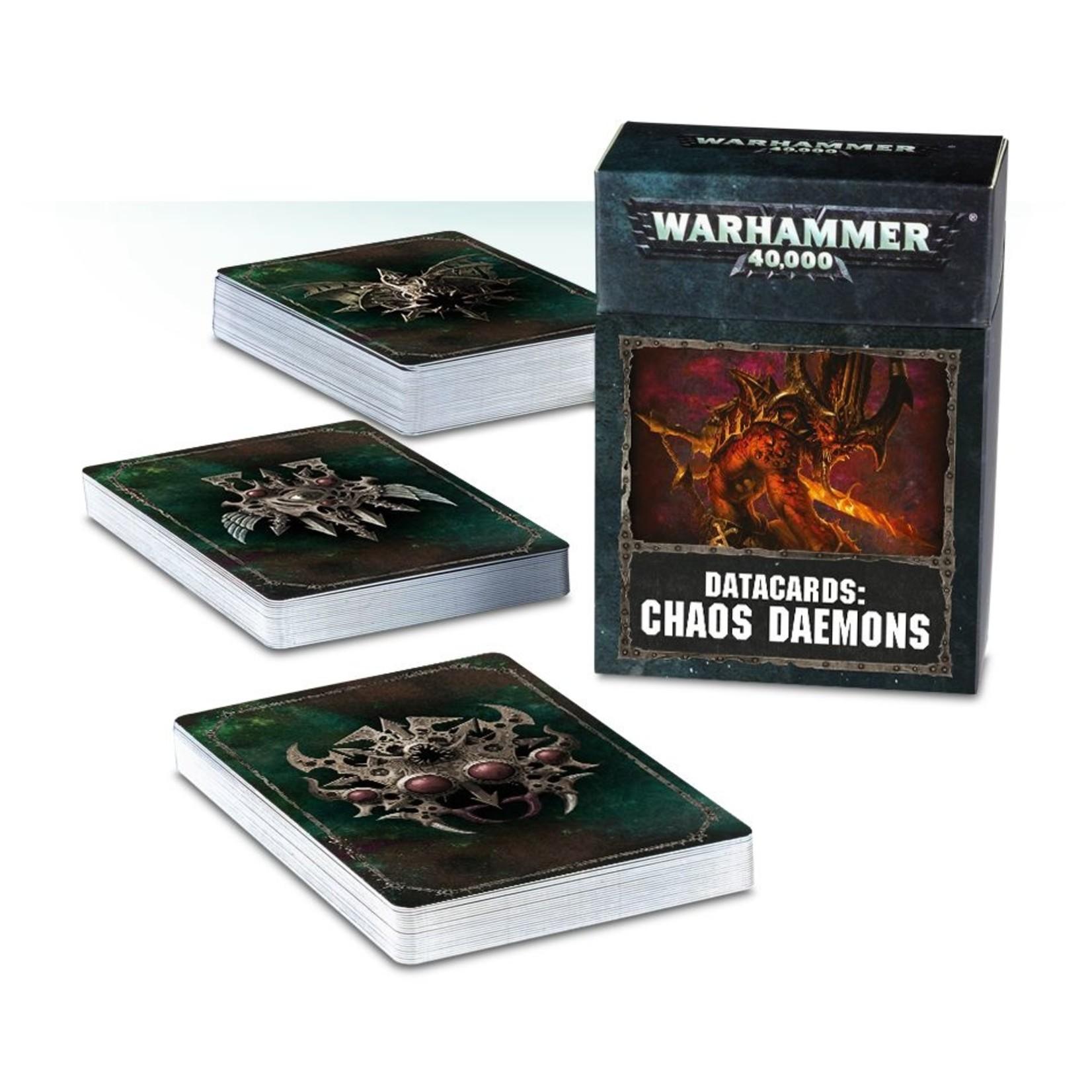 Games Workshop DATACARDS: CHAOS DAEMONS (ENGLISH)
