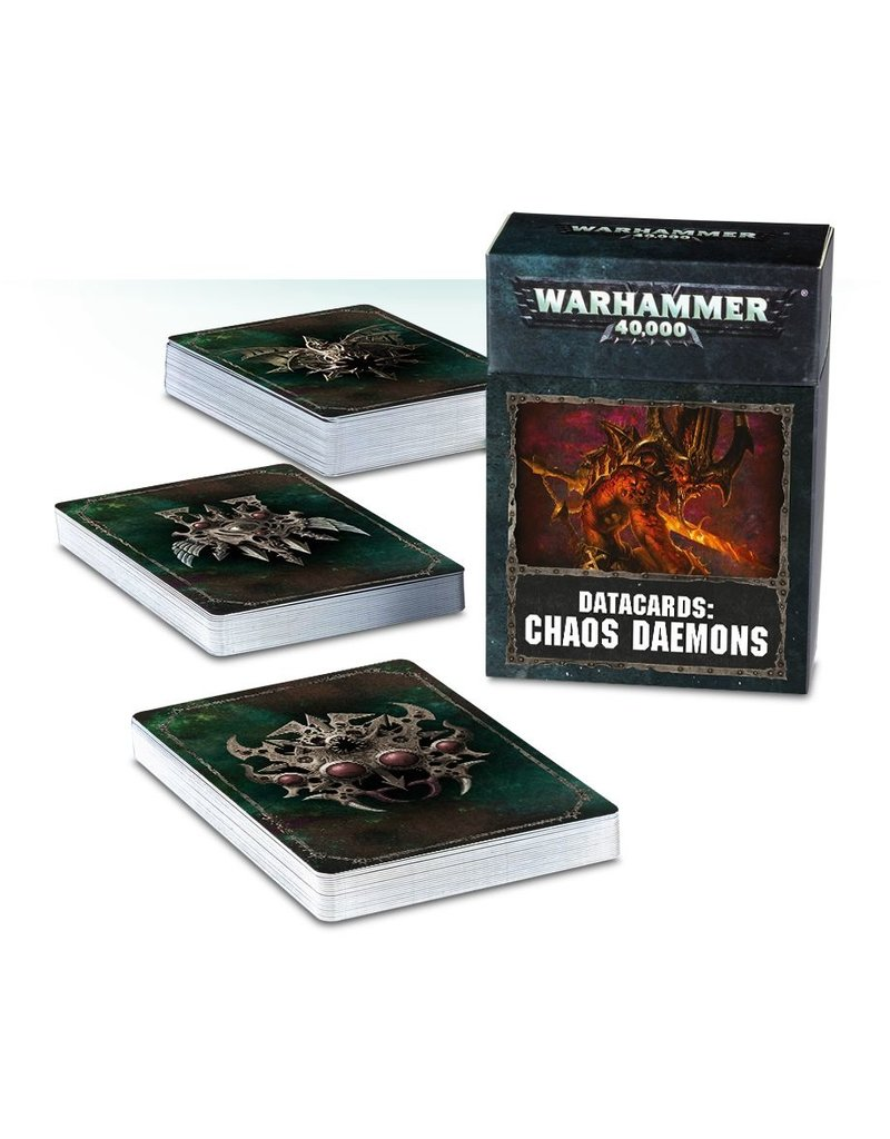 Games Workshop DATACARDS: CHAOS DAEMONS (ENGLISH)