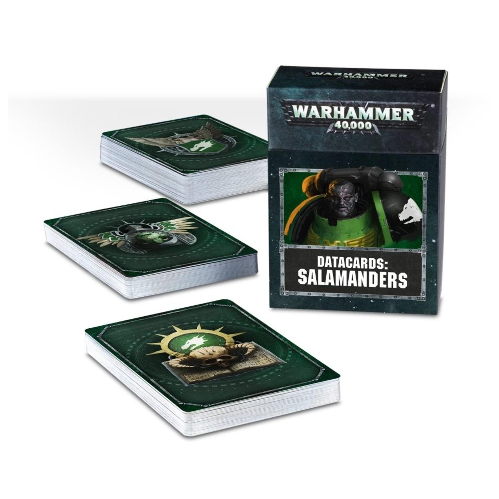 Games Workshop DATACARDS: SALAMANDERS (ENGLISH)