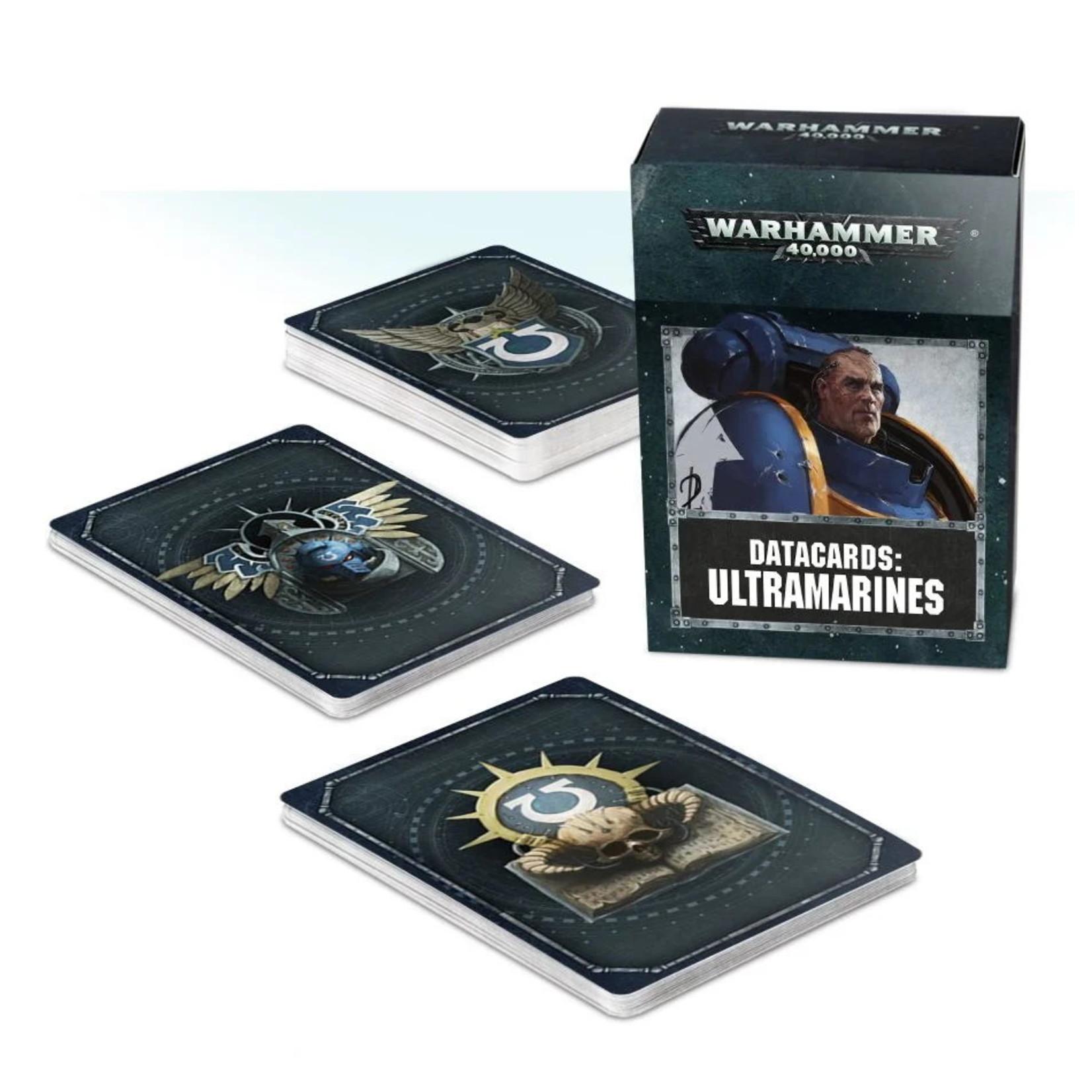 Games Workshop DATACARDS: ULTRAMARINES (ENGLISH)
