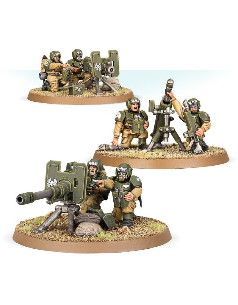 Games Workshop A/MILITARUM CADIAN HEAVY WEAPON SQUAD