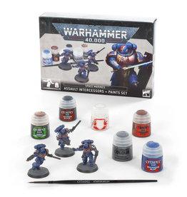 Games Workshop Space Marines: Assault Intercessors + Paints Set