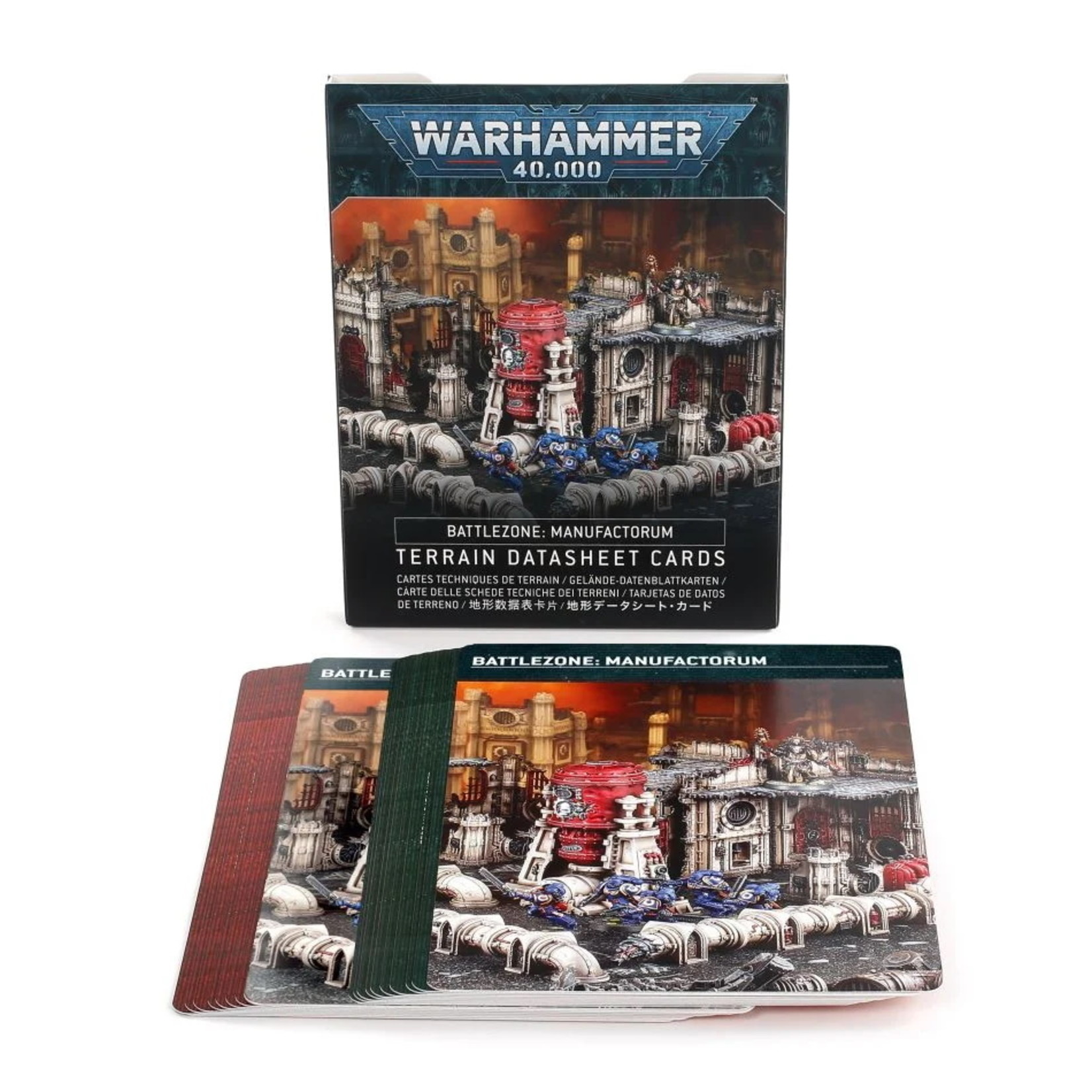 Games Workshop Battlezone: Manufactorum – Terrain Datasheet Cards