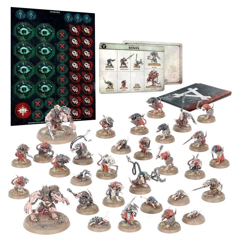 Skaven Lot de Cartes Games Workshop Warhammer AoS Warcry