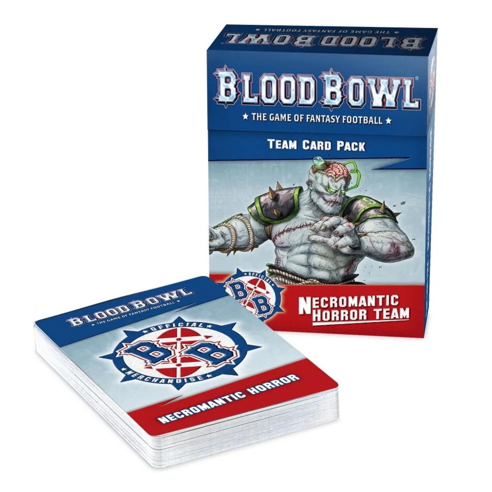 Games Workshop Blood Bowl Necromantic Horror Team Card Pack