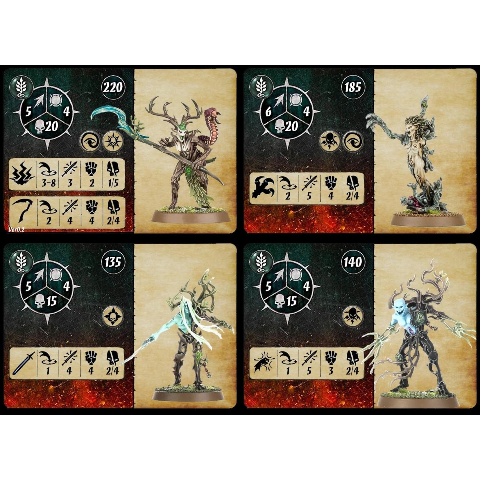 Games Workshop Warcry: Sylvaneth Cards