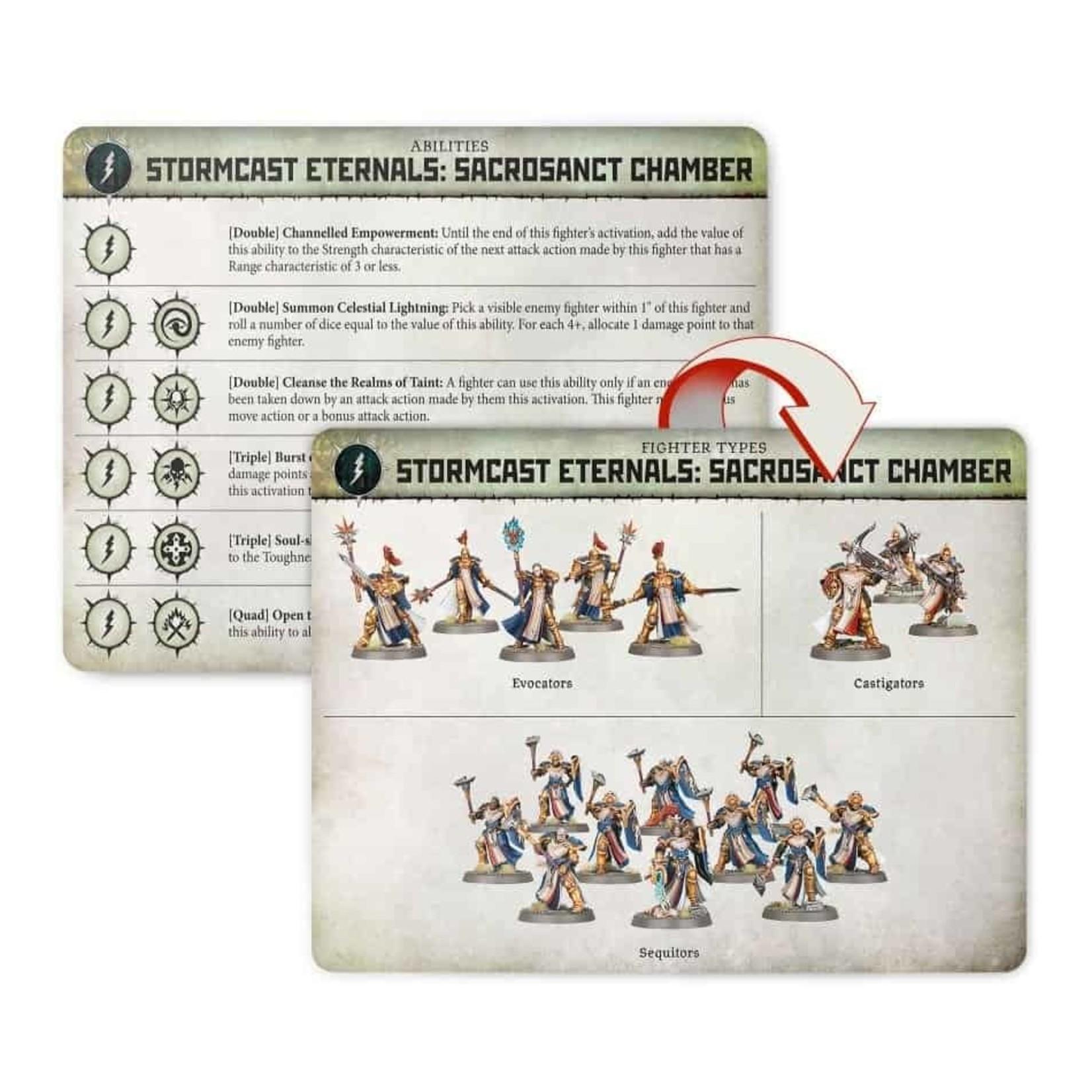 Games Workshop Warcry: Stormcast Sancrosanct Cards