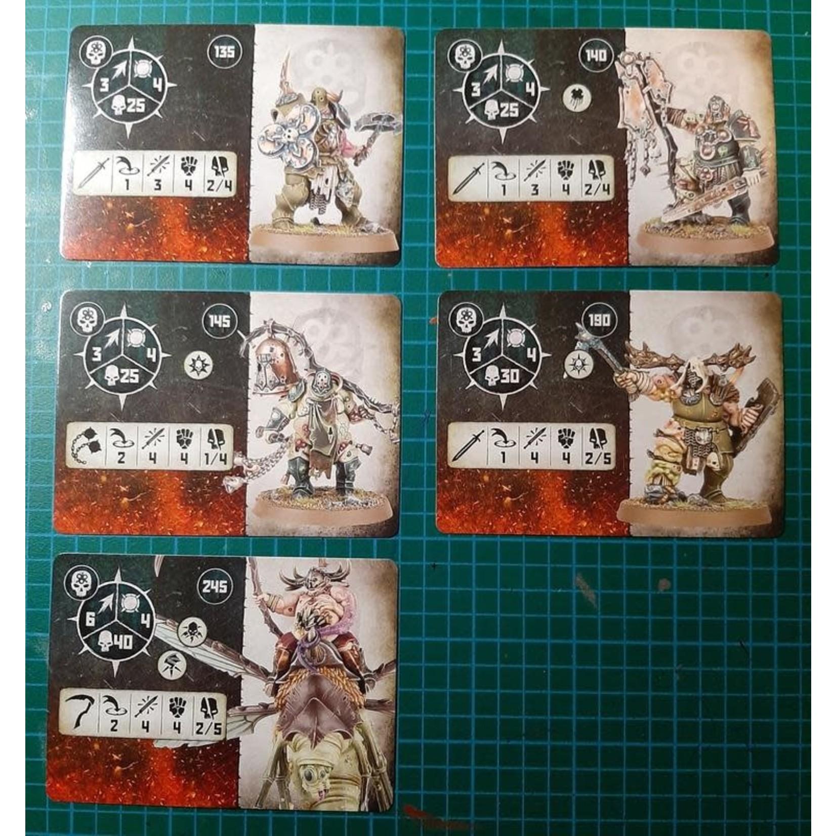 Games Workshop Warcry: Nurgle Rotbringers Cards