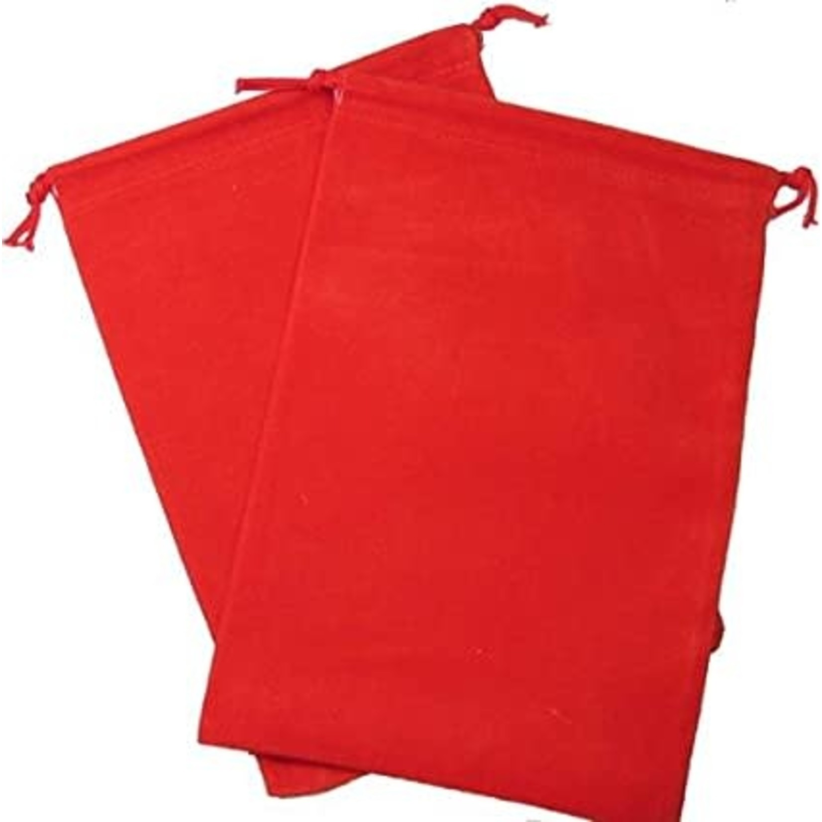 Red Velour Dice Pouch (large)
