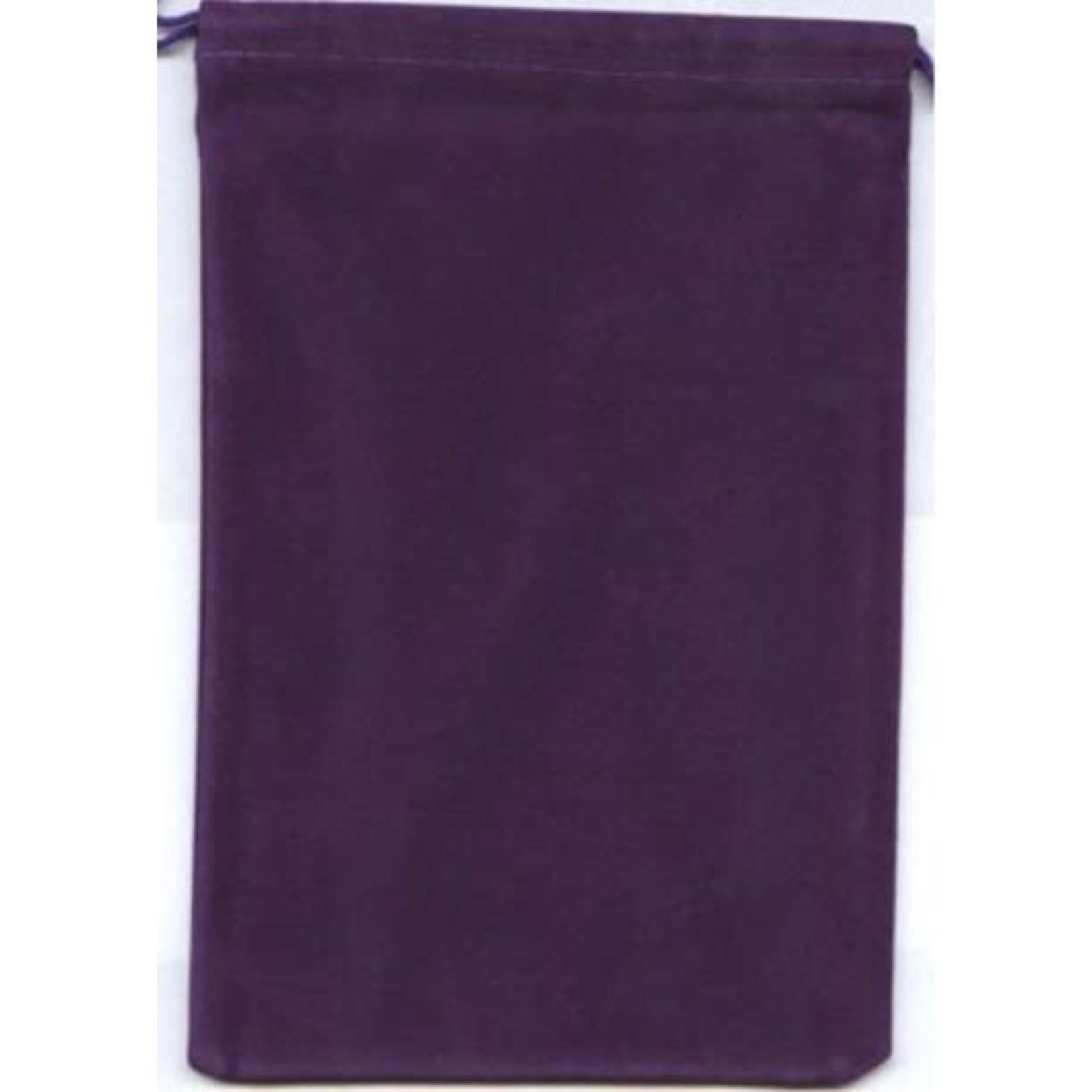 Purple Velour Dice Pouch (large)