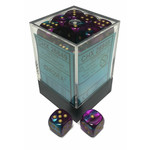 Gemini 5: 12mm D6 Purple Teal/Gold (36)