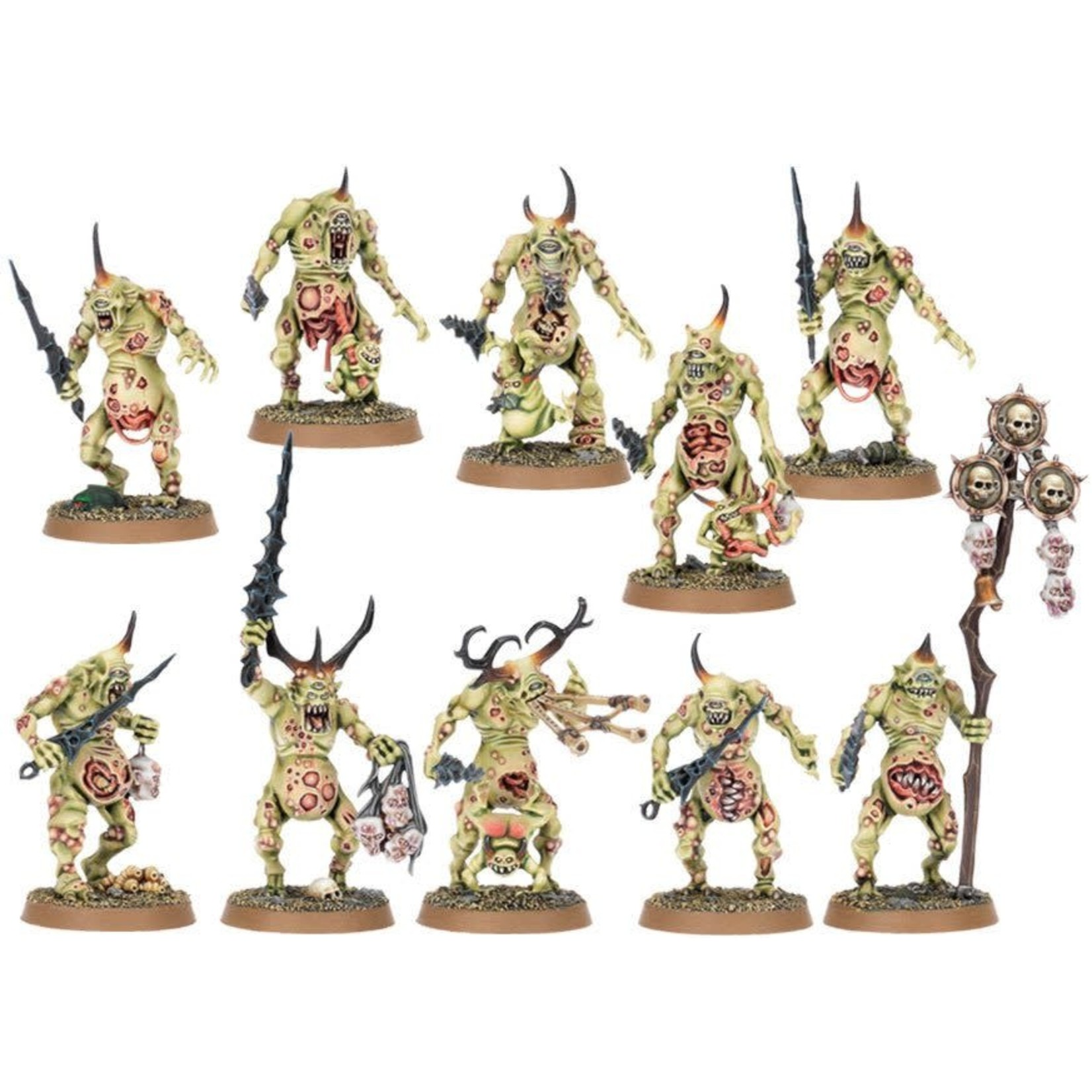 Games Workshop Daemons Of Nurgle Plaguebearers