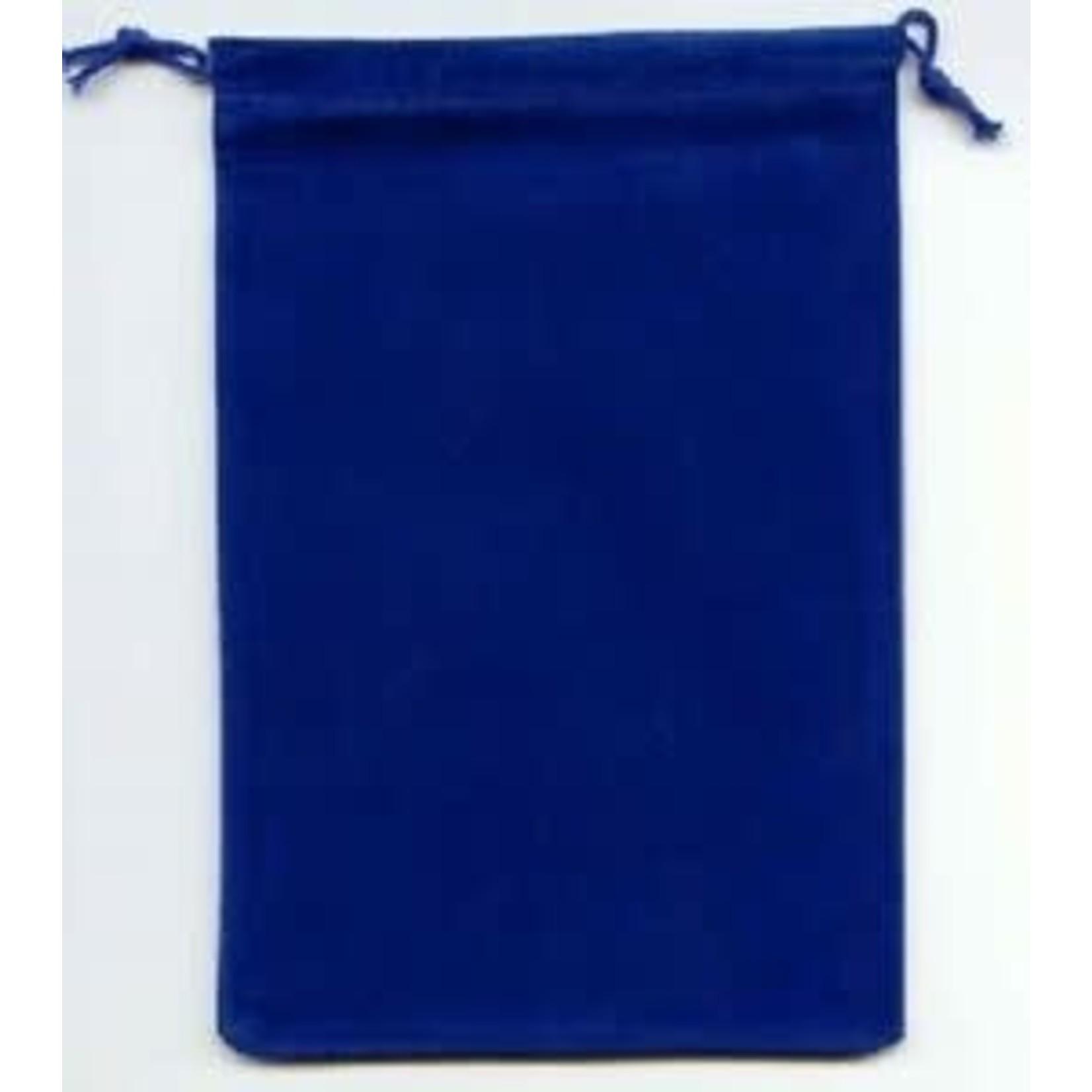 Blue Velour Dice Pouch (large)