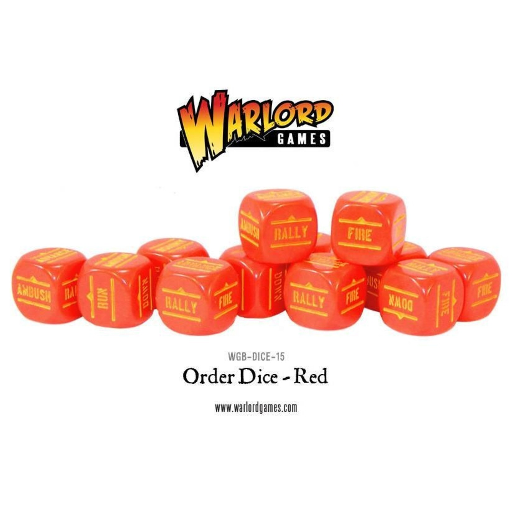 Warlord Games BA Order Dice -Red