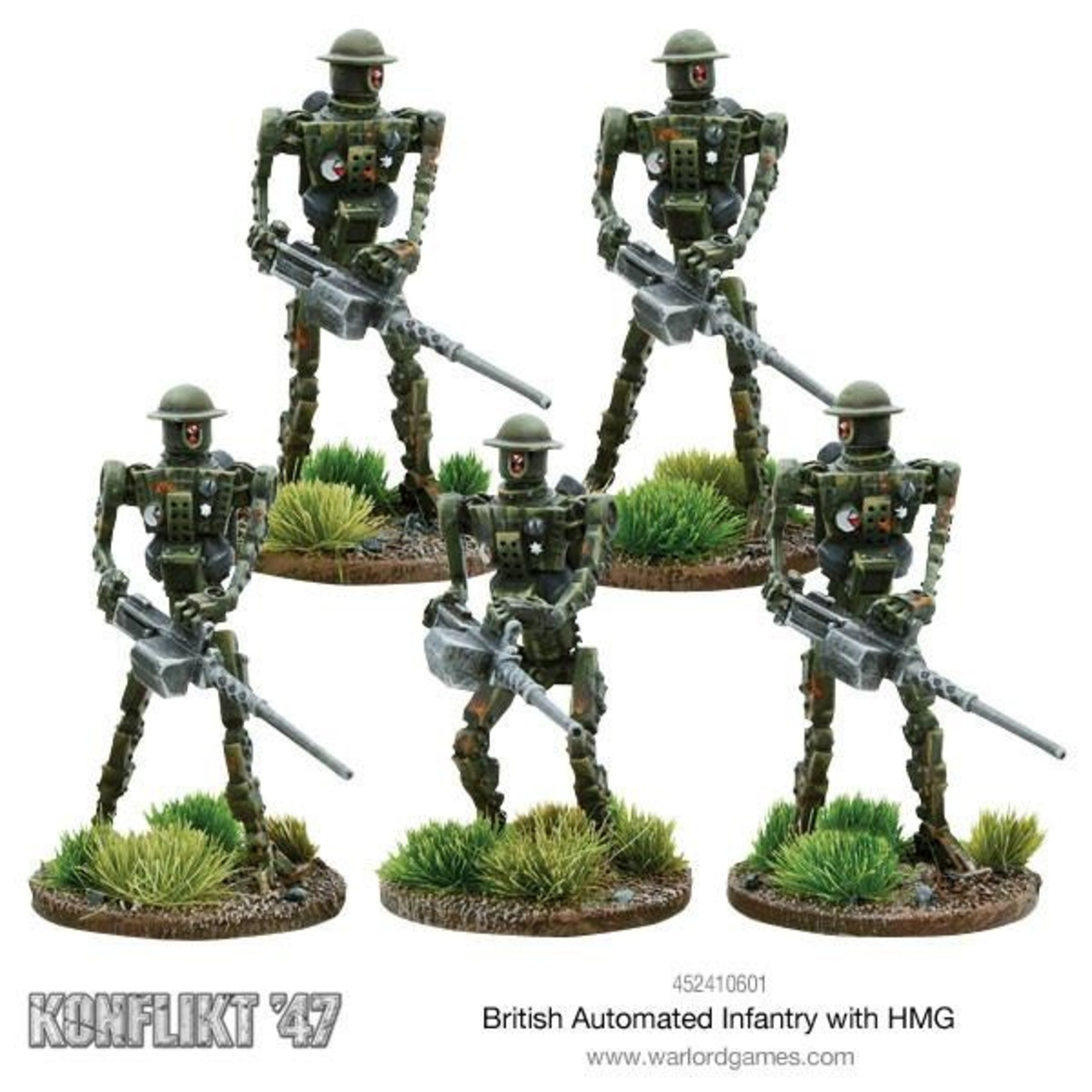 Warlord Games British Automated Infantry with HMG box set