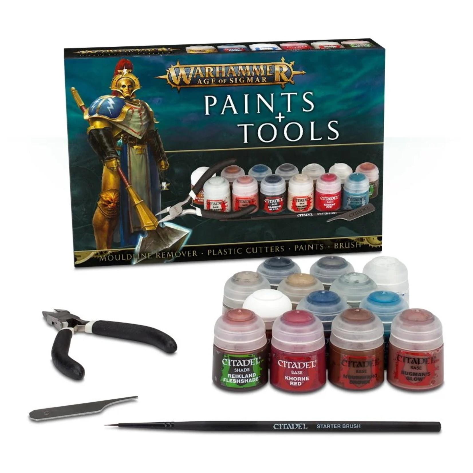 Games Workshop Warhammer Age of Sigmar Paints & Tools Set