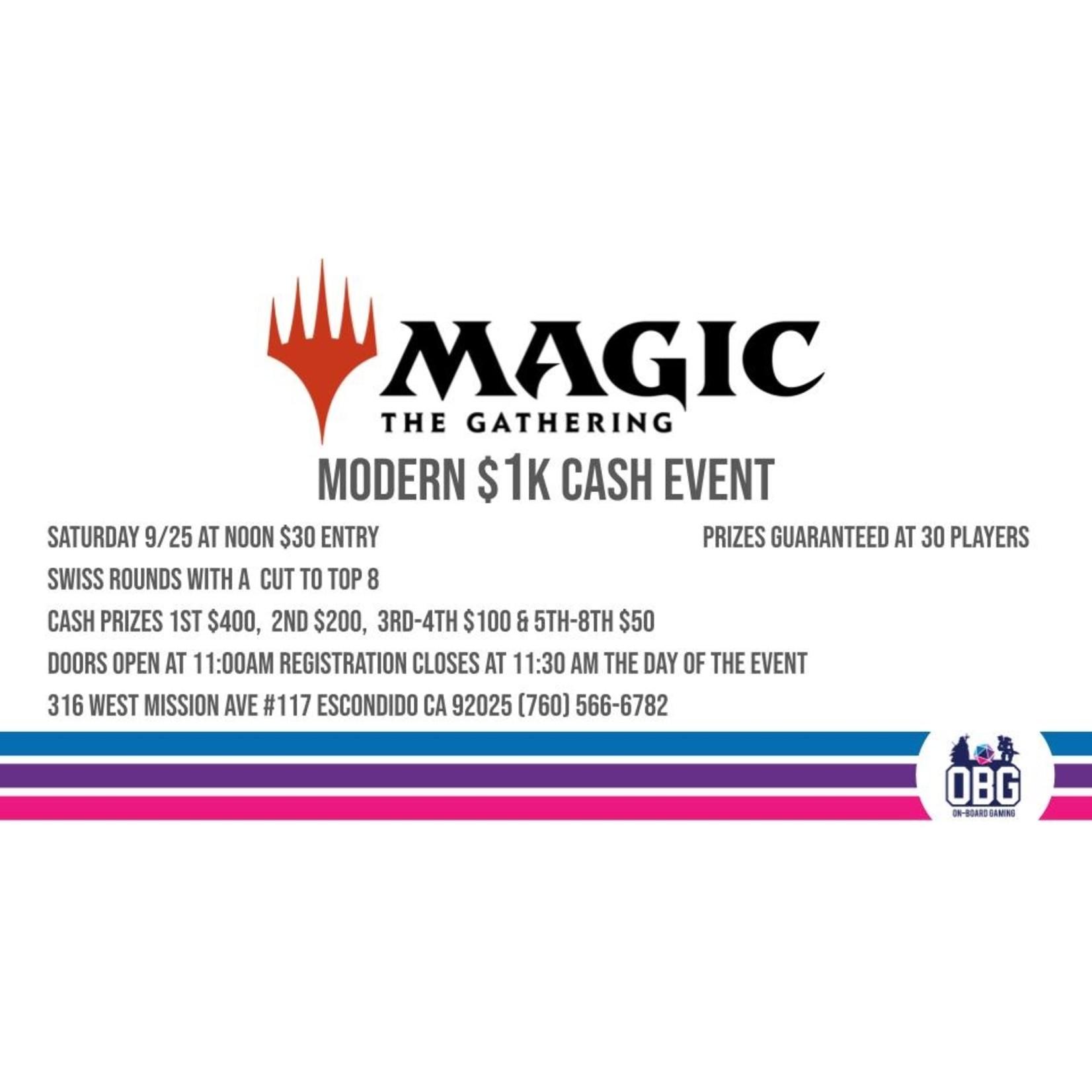 Modern $1000 Cash Event