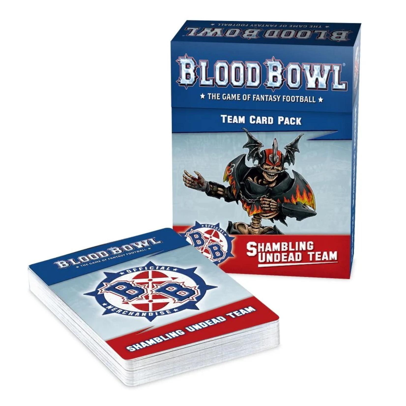 Games Workshop Blood Bowl Shambling Undead Team Card Pack