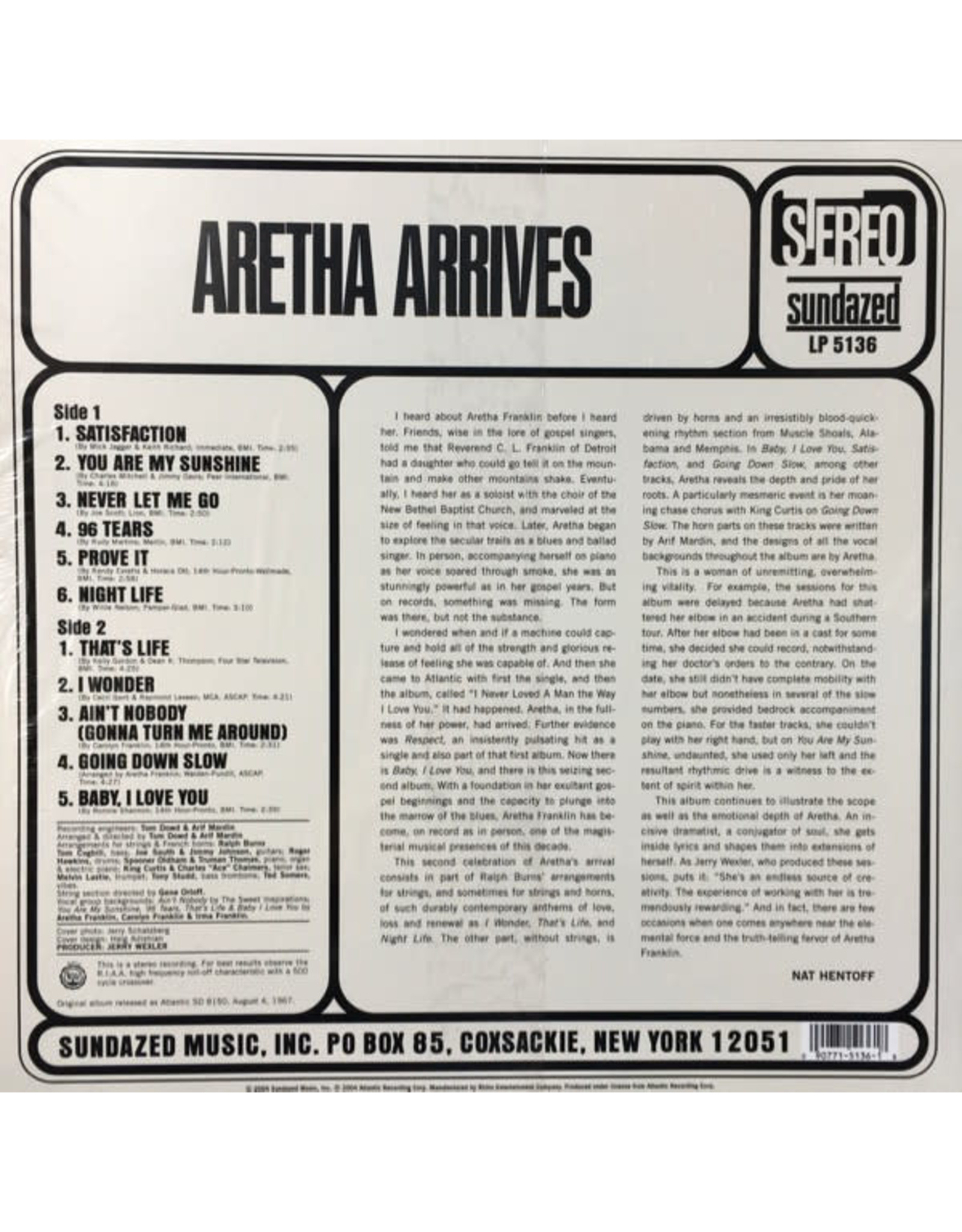 Aretha Franklin - Aretha Arrives (50th Anniversary) [Mono]