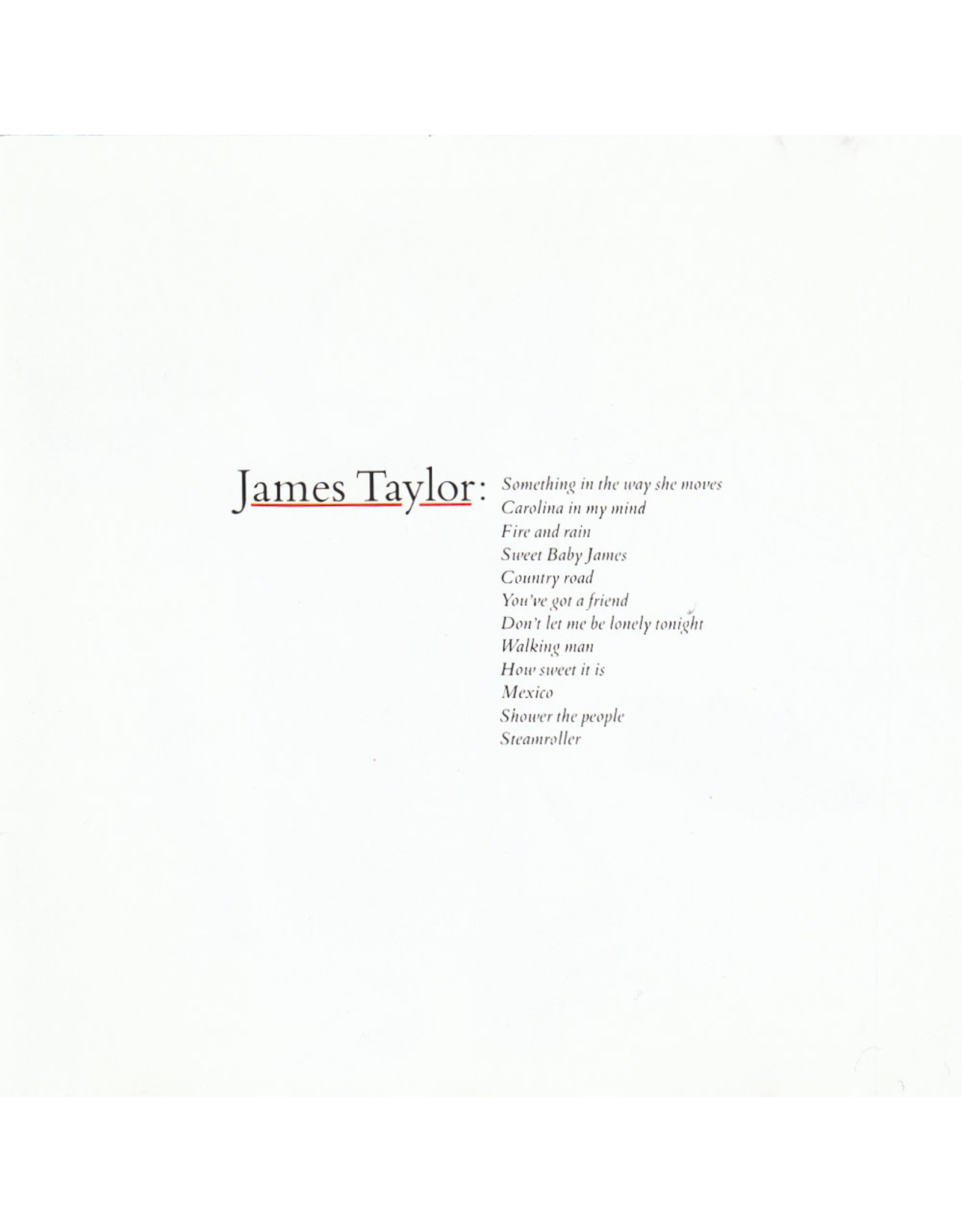 James Taylor - Greatest Hits (Peter Asher 2020 Remaster)