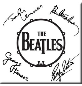 The Beatles / Autographed Drum Magnet