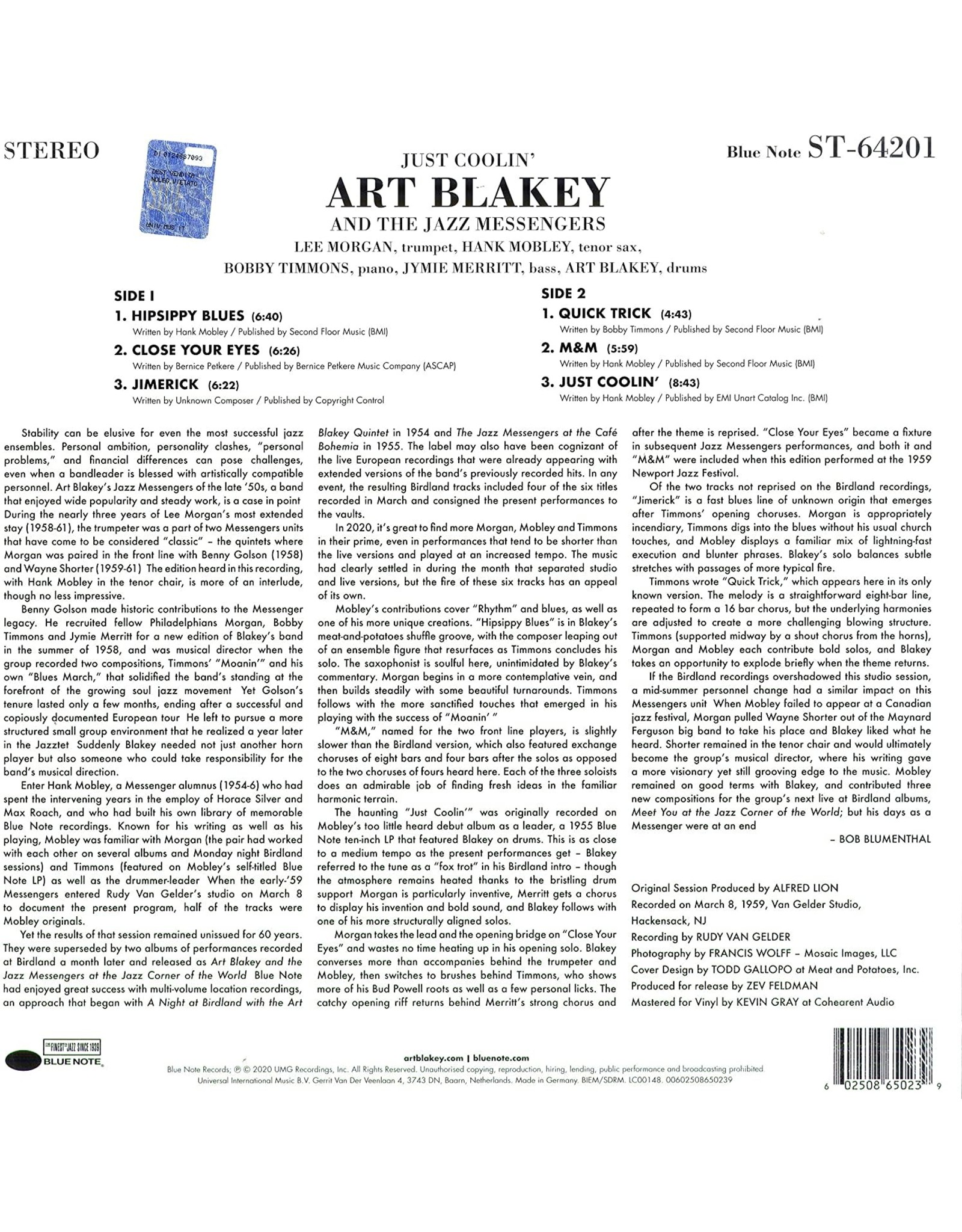 Art Blakey - Just Coolin'