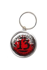 Black Sabbath / 13 Flame Keychain