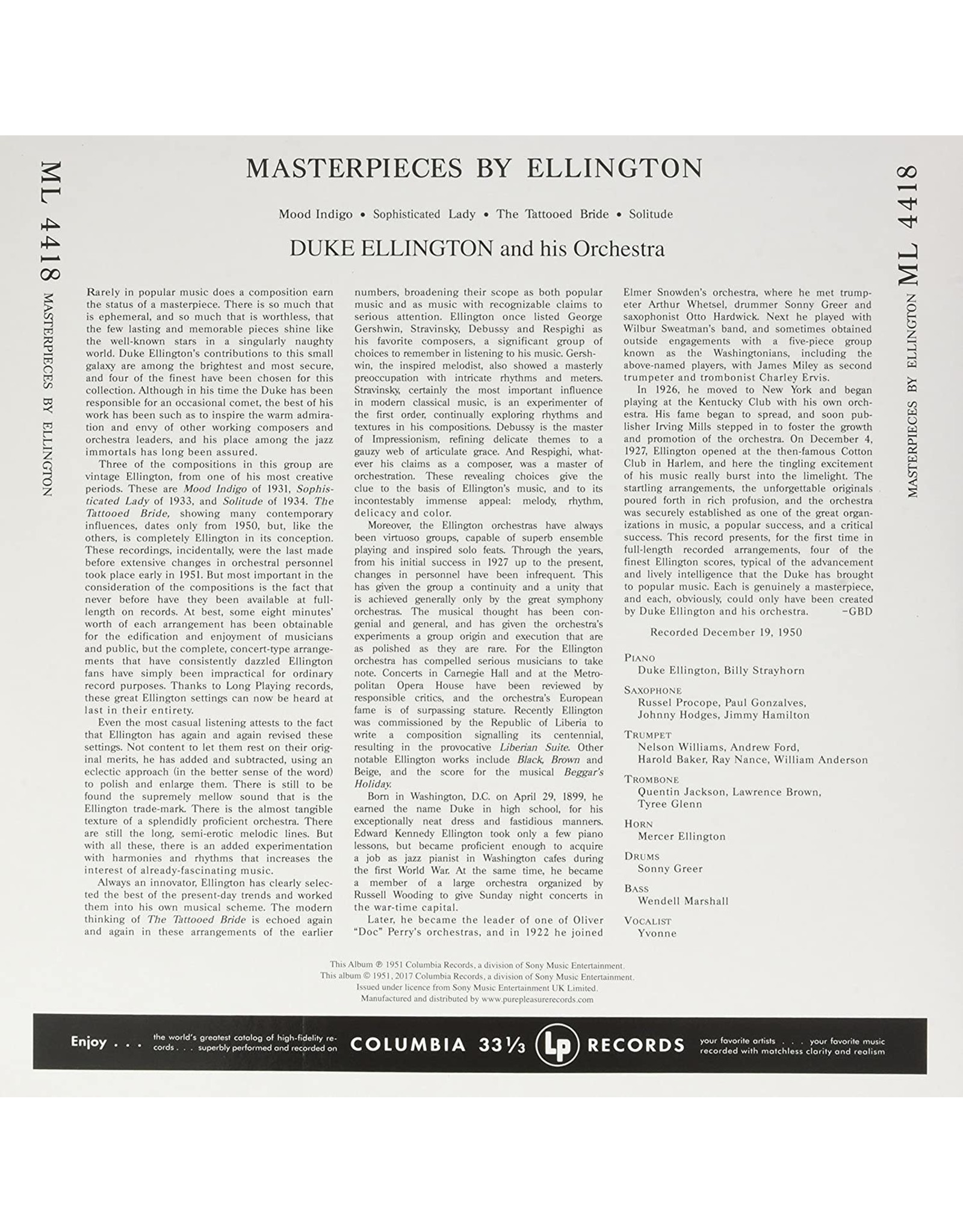 Duke Ellington - Masterpieces By Ellington (Mono)