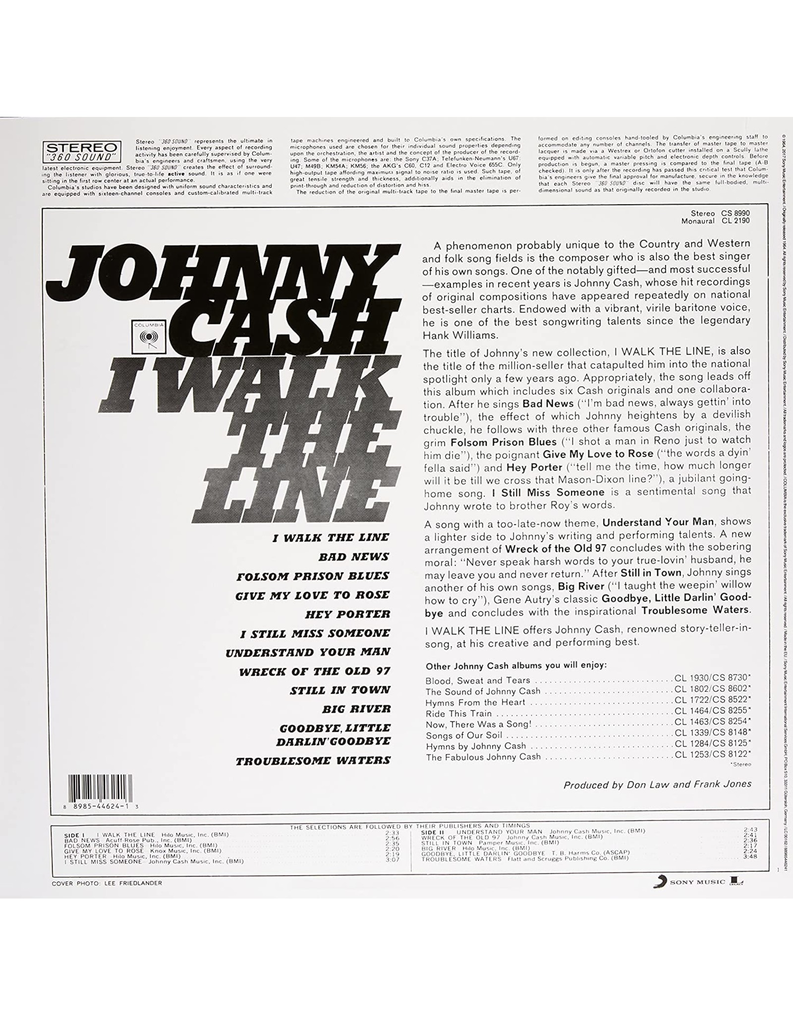 Johnny Cash - I Walk The Line (Greatest Hits)