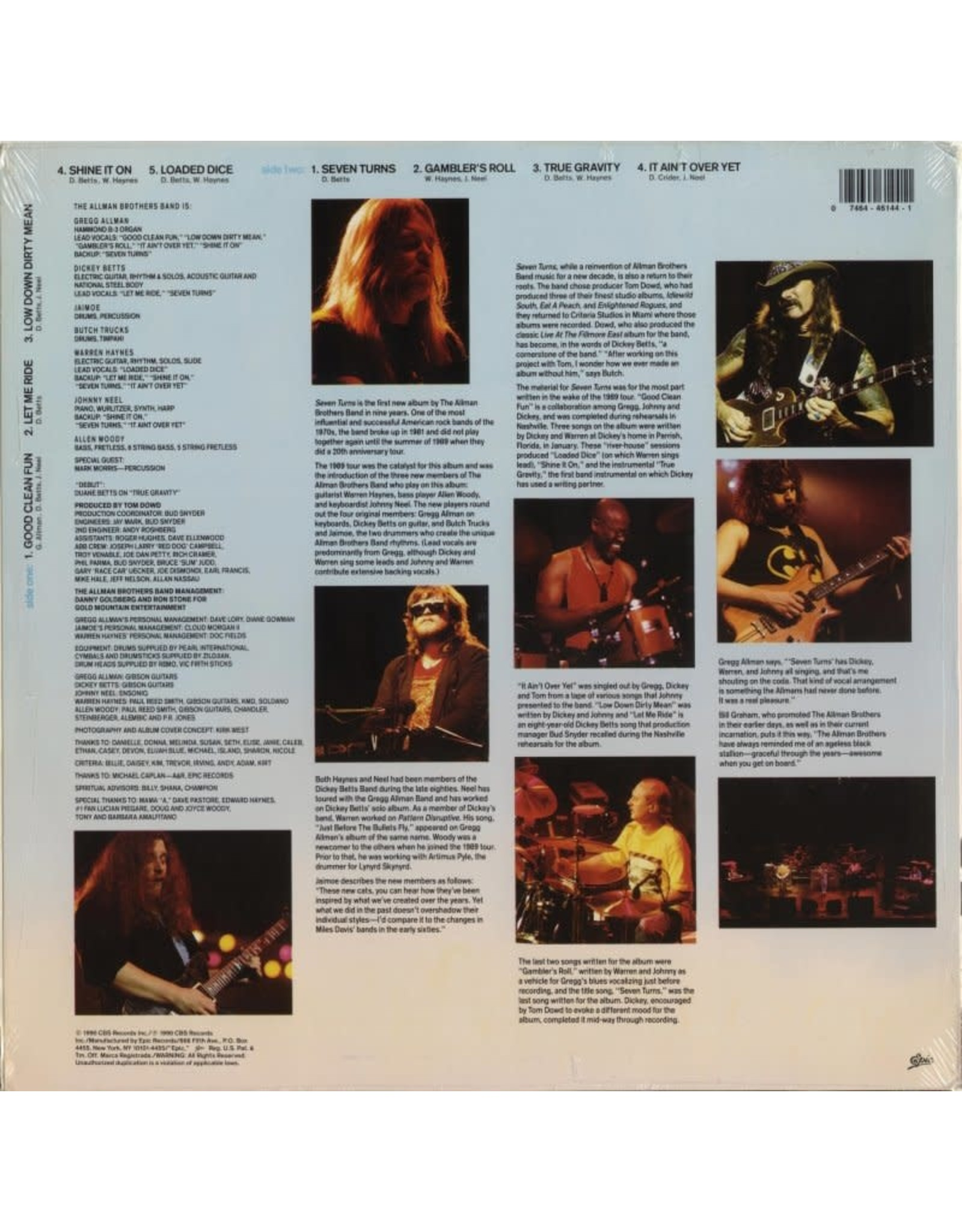 Allman Brothers Band - Seven Turns (Music On Vinyl) [Clear Vinyl]