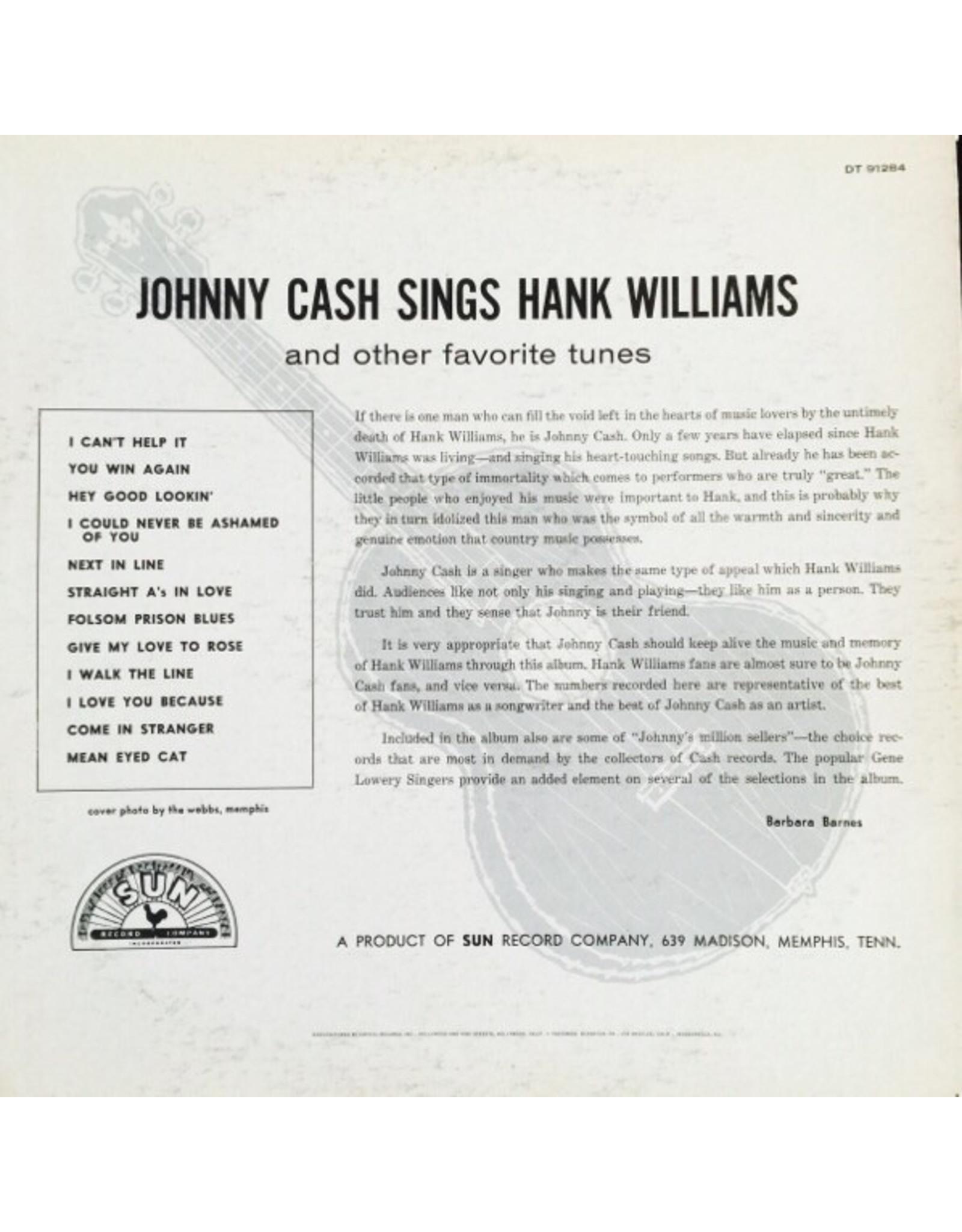 Johnny Cash - Johnny Cash Sings Hank Williams (Half Speed Master) [Sunset Orange Vinyl]