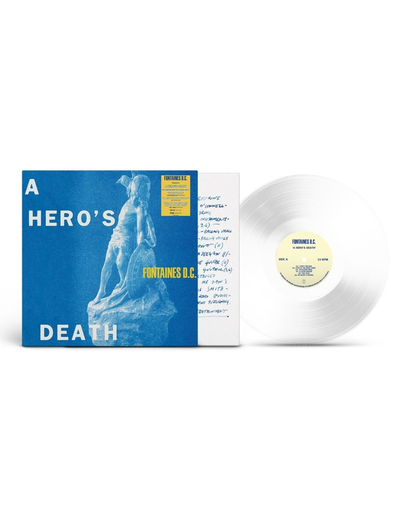 Fontaines D.C. - A Hero's Death (Exclusive Clear Vinyl)