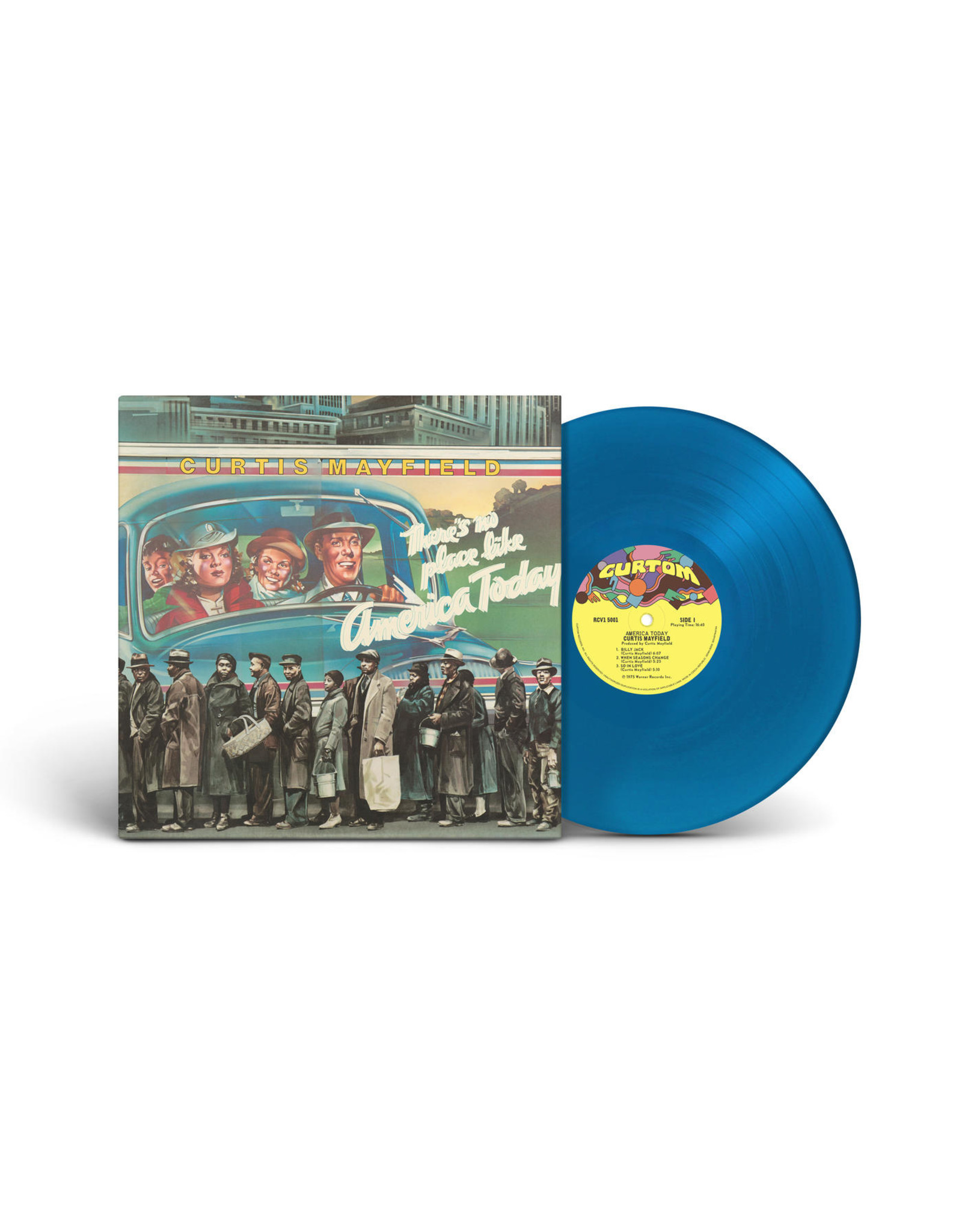 Curtis Mayfield - There's No Place Like America Today (Turquoise Blue Vinyl)