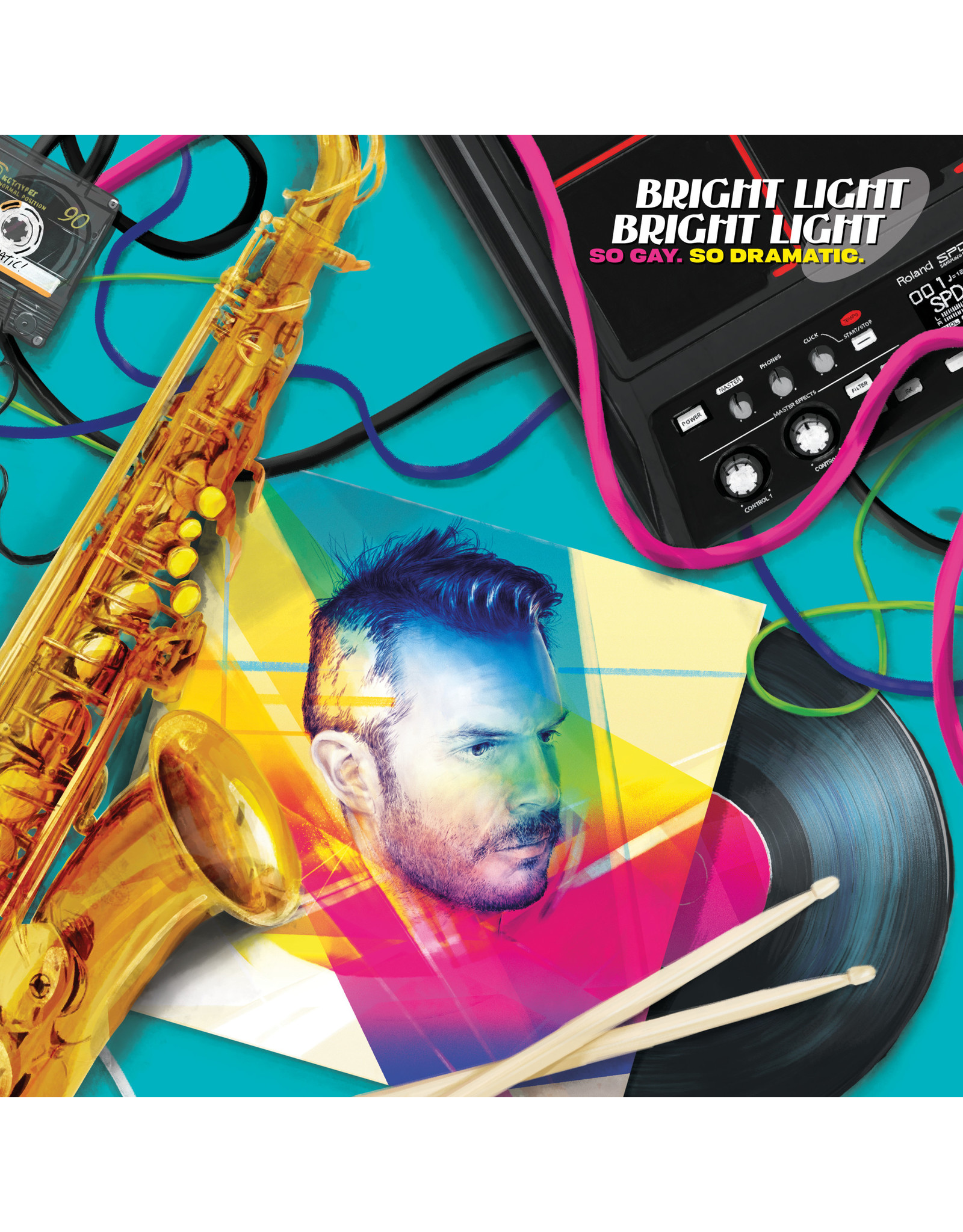 Bright Light Bright Light - So Gay, So Dramatic (Exclusive Neon Magenta / Neon Yellow Vinyl)