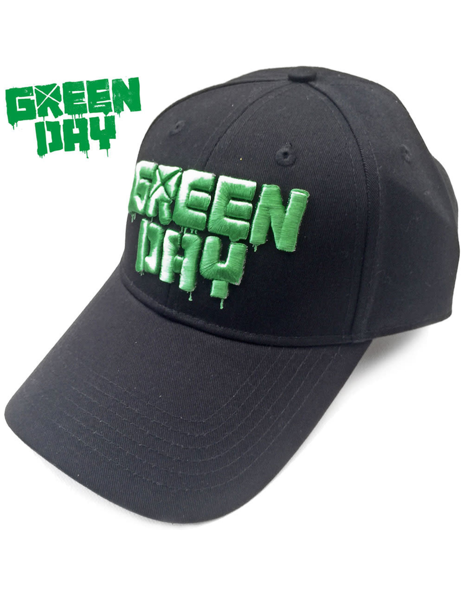 Green Day / Classic Dripping Logo Baseball Cap