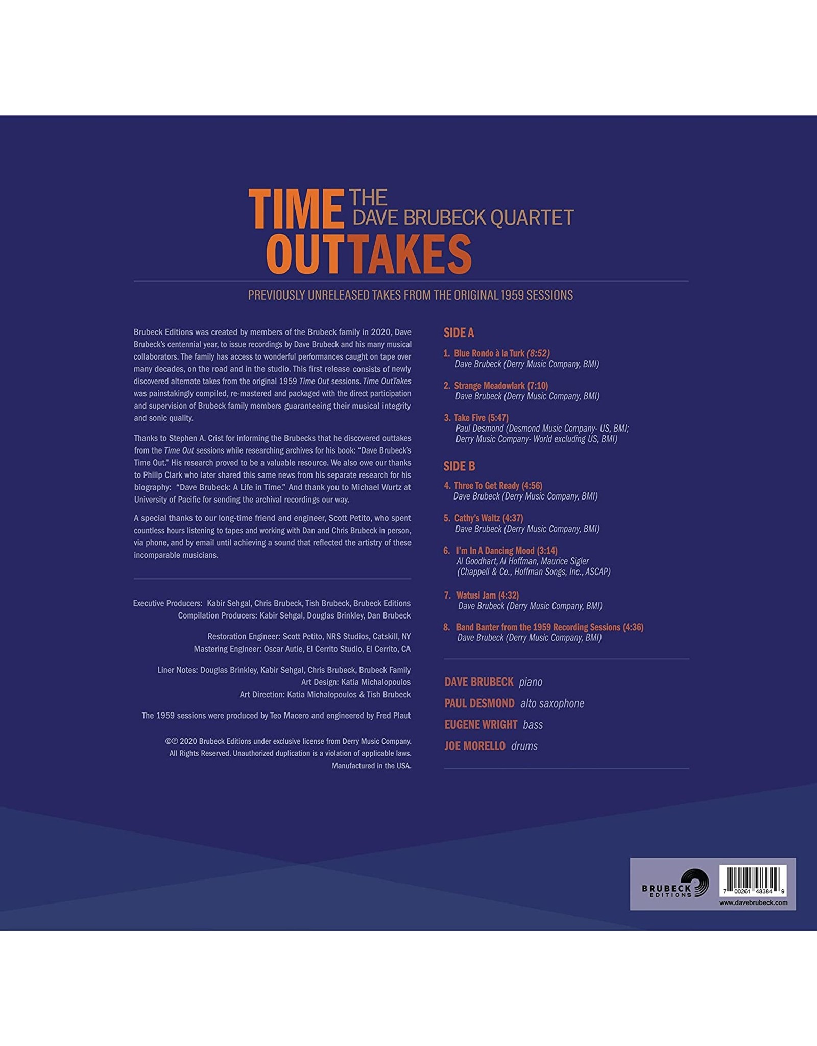 Dave Brubeck - Time OutTakes: Unreleased 1959 Sessions