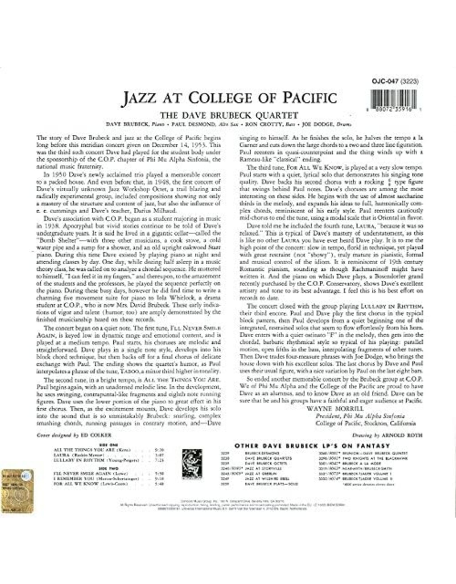 Dave Brubeck - Jazz At The College Of The Pacific