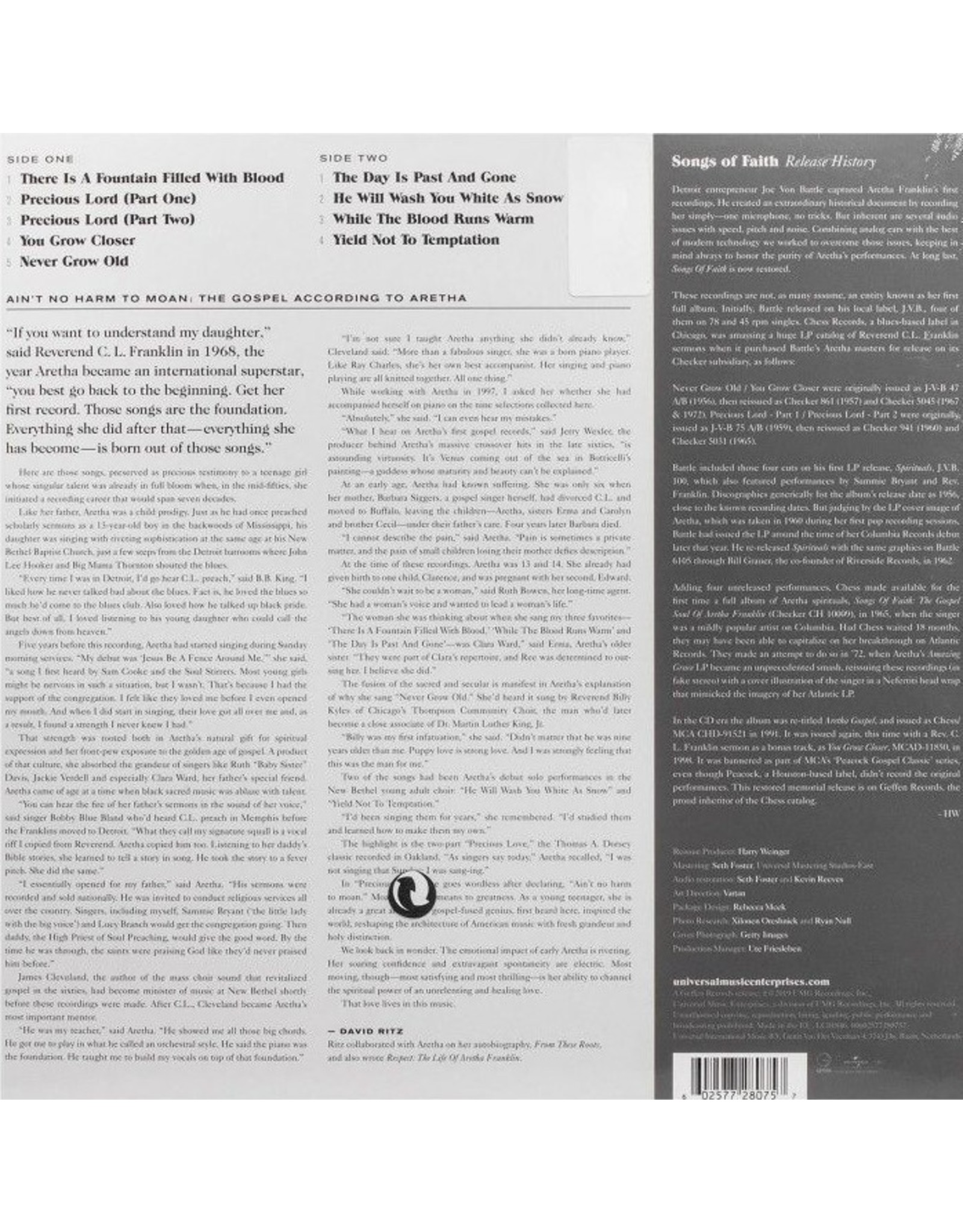 Aretha Franklin - Songs Of Faith: Aretha Gospel