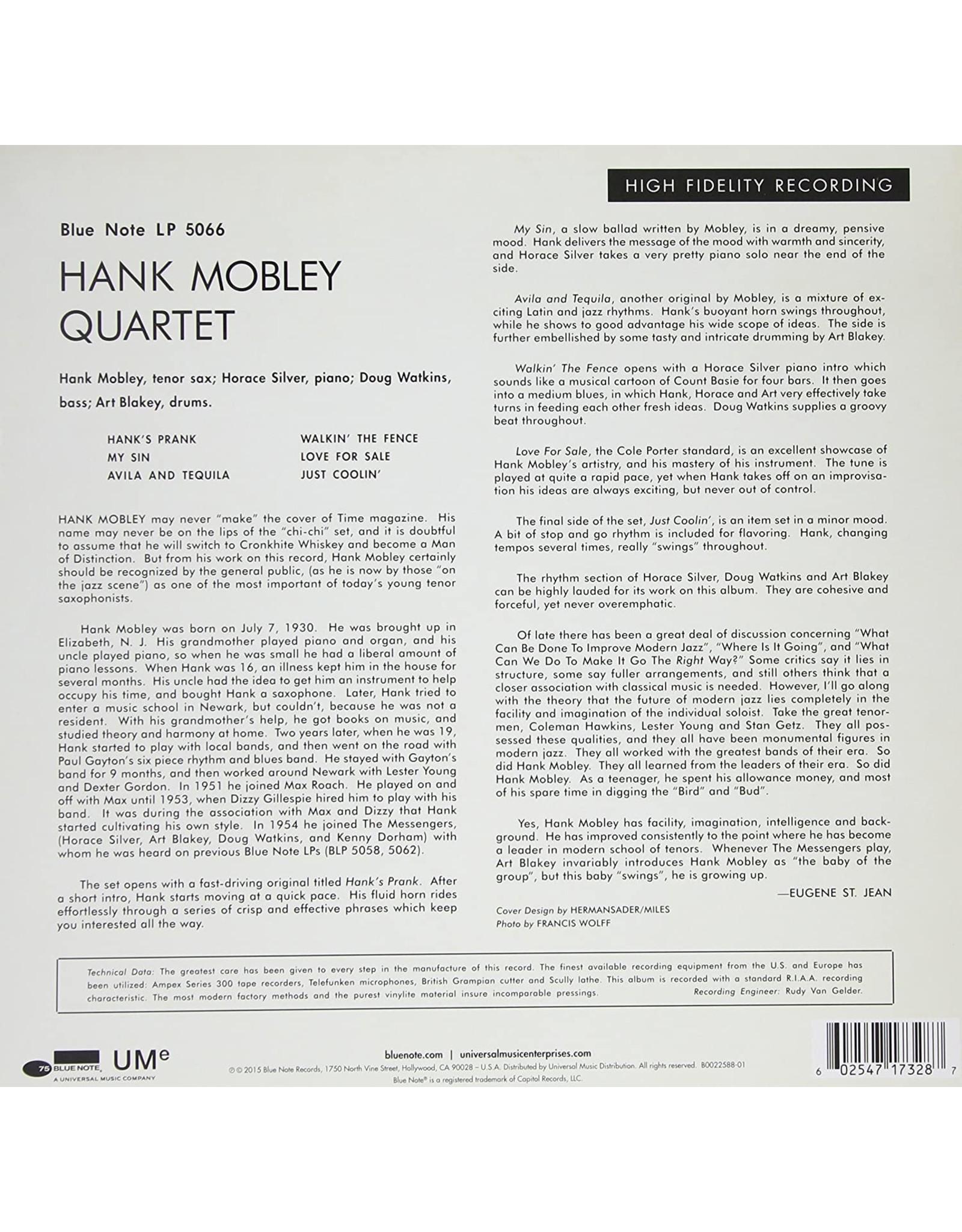 "Hank Mobley - Hank Mobley Quartet (10"")"