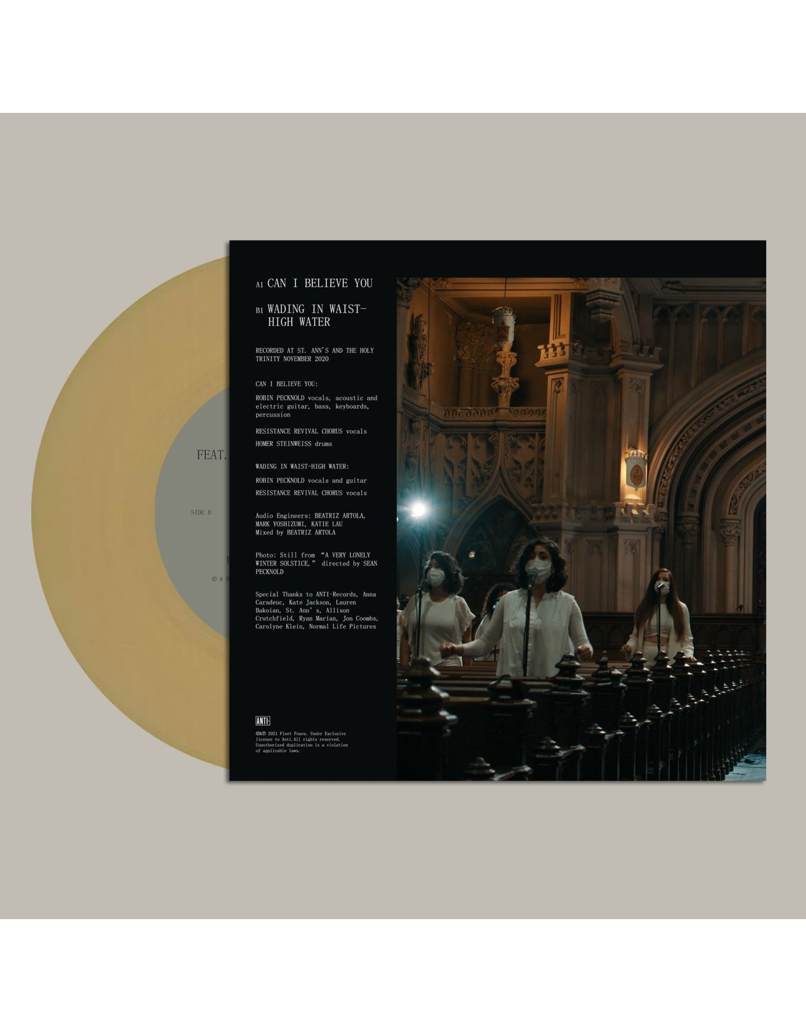"""Fleet Foxes - Can I Believe You? (Record Store Day) [7"""" Gold Vinyl]"""