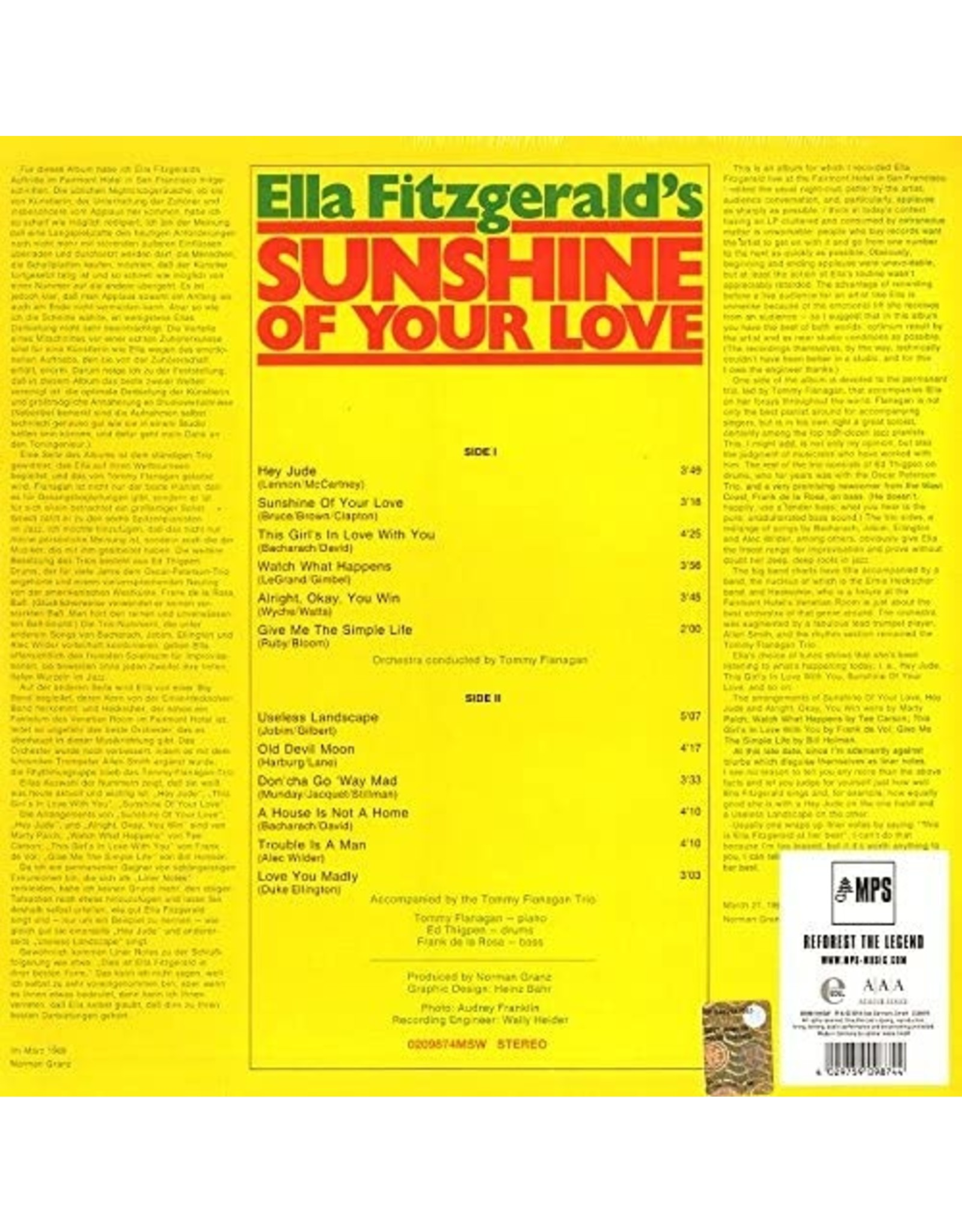 Ella Fitzgerald - Sunshine Of Your Love (MPS AAA Series)