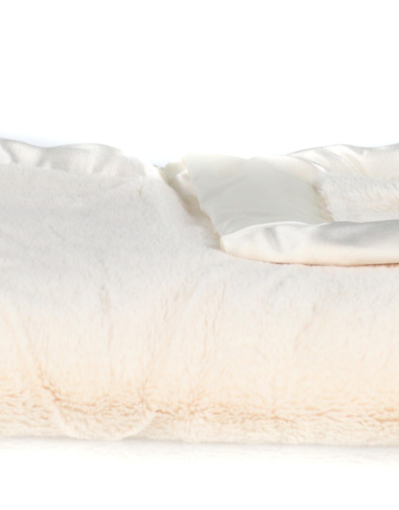 Saranoni Lush Satin Back Receiving Blanket  Ivory