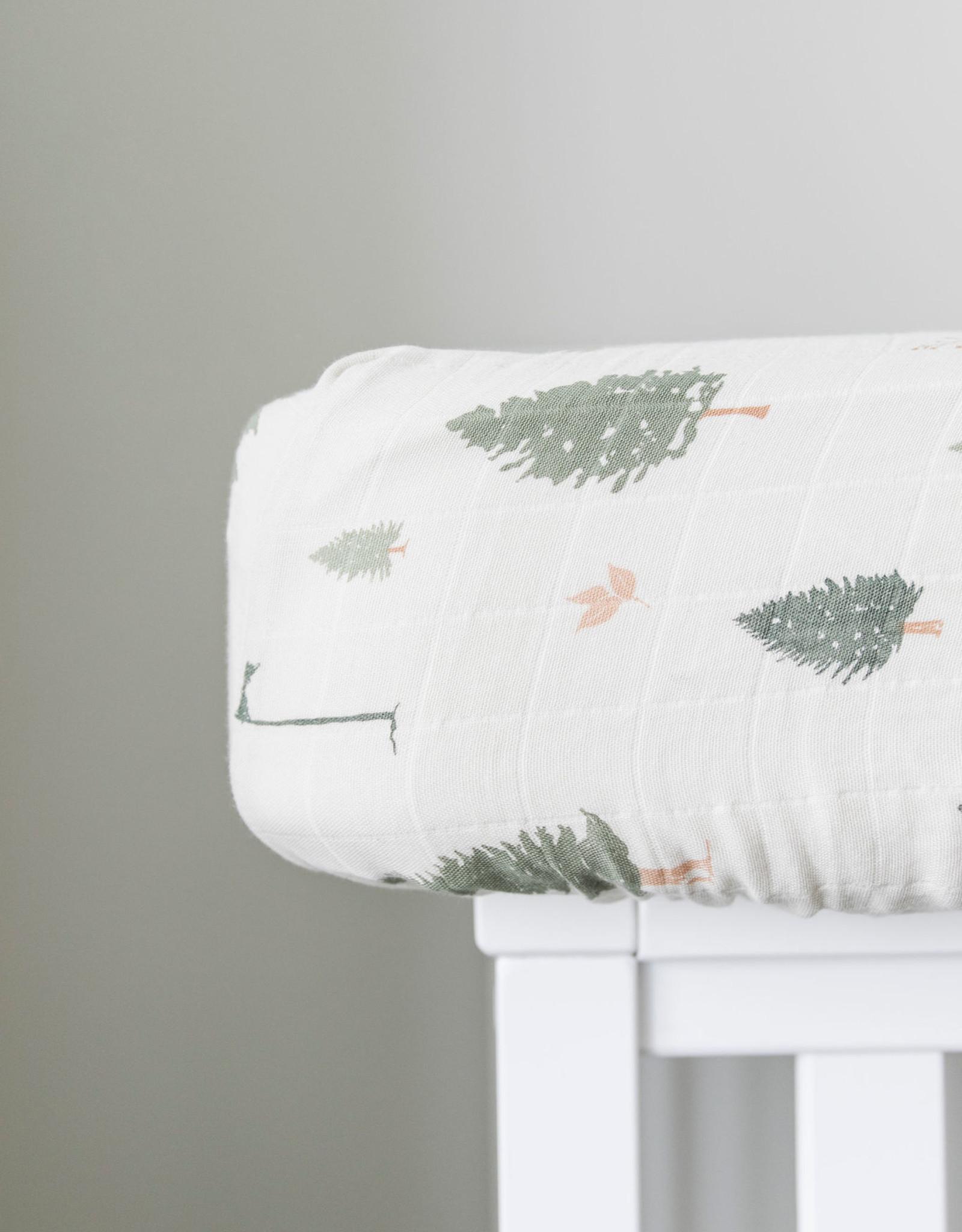 Saranoni Muslin Crib Sheet 107-4141-2 Pine