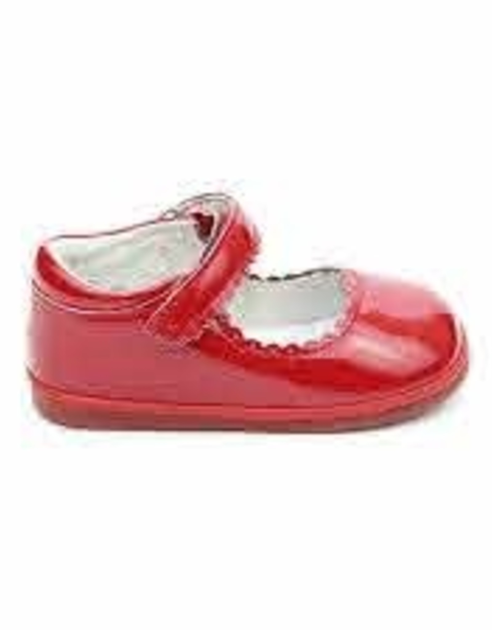 L'Amour Cara Scalloped MJ Patent Red