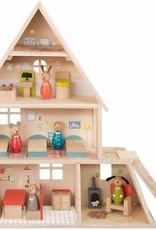 Moulin Roty La Grande Famille Doll House With Furniture