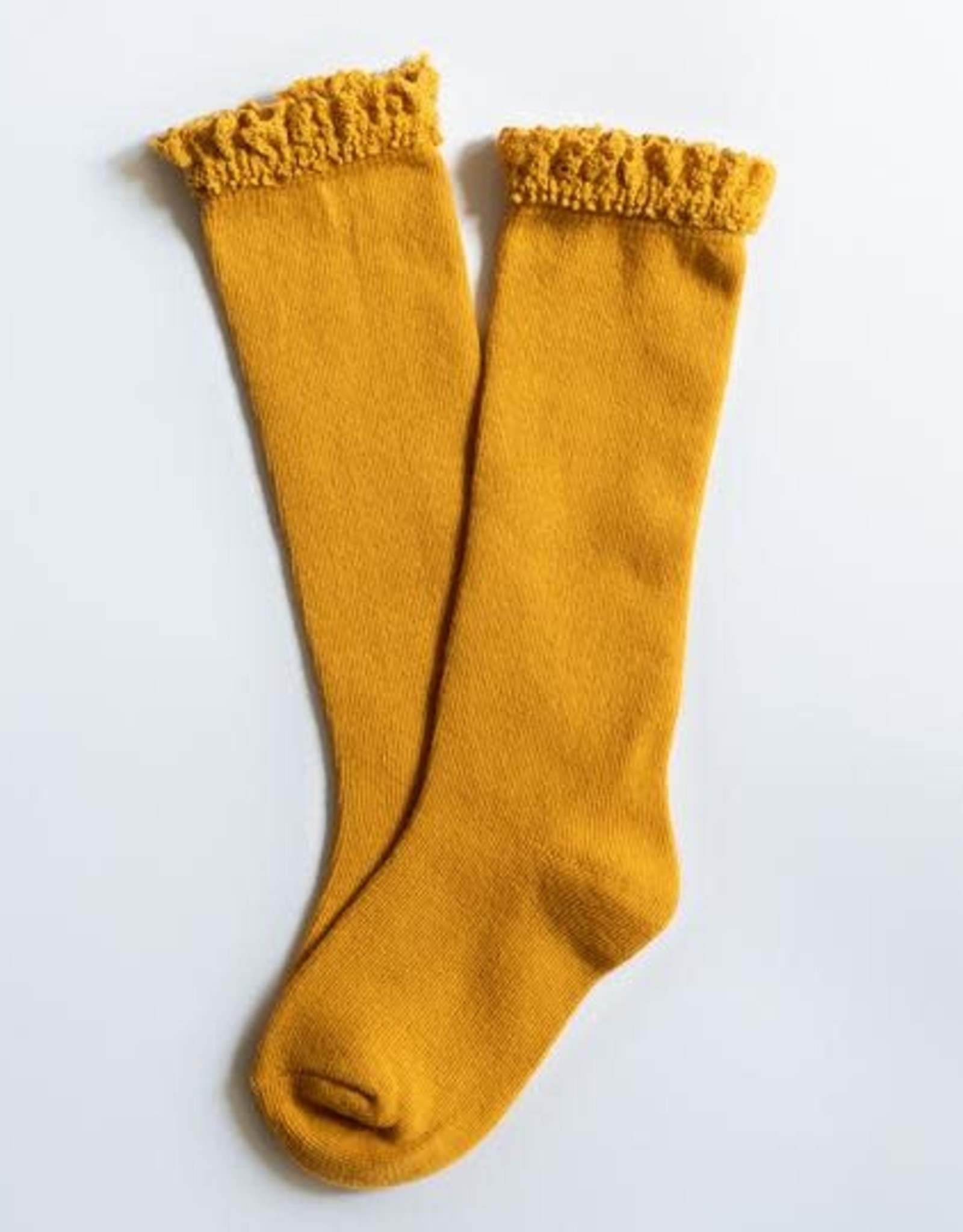 Little Stocking Co Lace Top Knee High Sock Marigold
