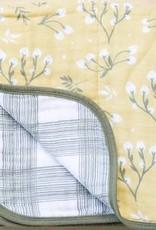 Saranoni Muslin Quilt 107-4347-4 Yellow Buds