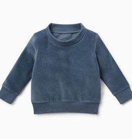 Baby Mori Velour High Neck Sweatshirt