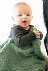 Saranoni Olive Bamboni Receiving Blanket