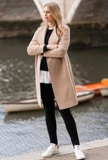 Seraphine Merino Wool Wrap Coat Camel Size 12